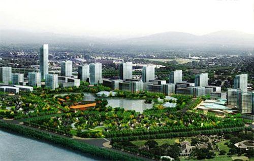 浐灞总部经济区全景图